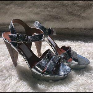 Lanvin Silver Heels